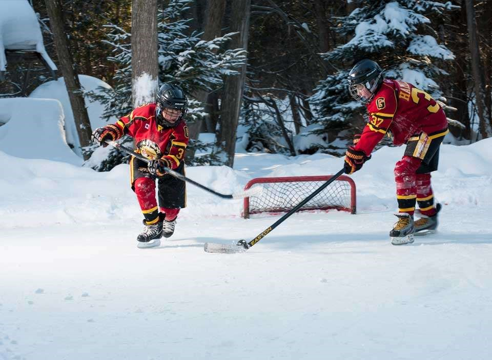 Practice Makes Perfect With Your Own Backyard Hockey Rink