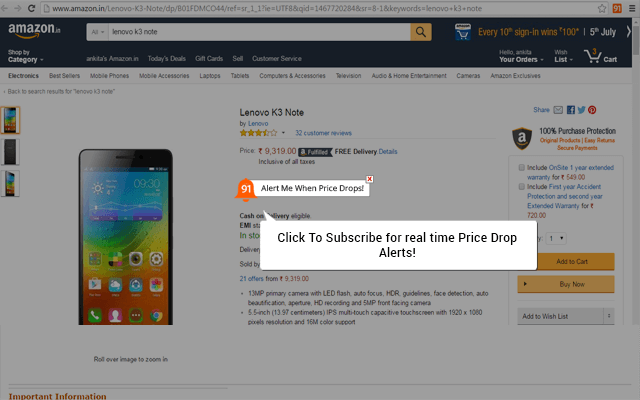91mobiles Chrome Extension: Add-on To Price Comparison For Lowest Price In The Market