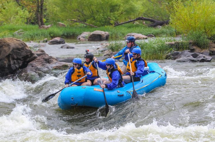 White Water River Rafting In The Summer